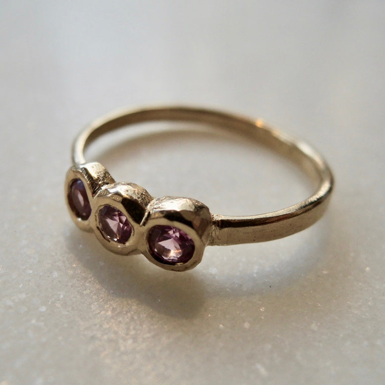 Water Lily Pink Sapphire Ring