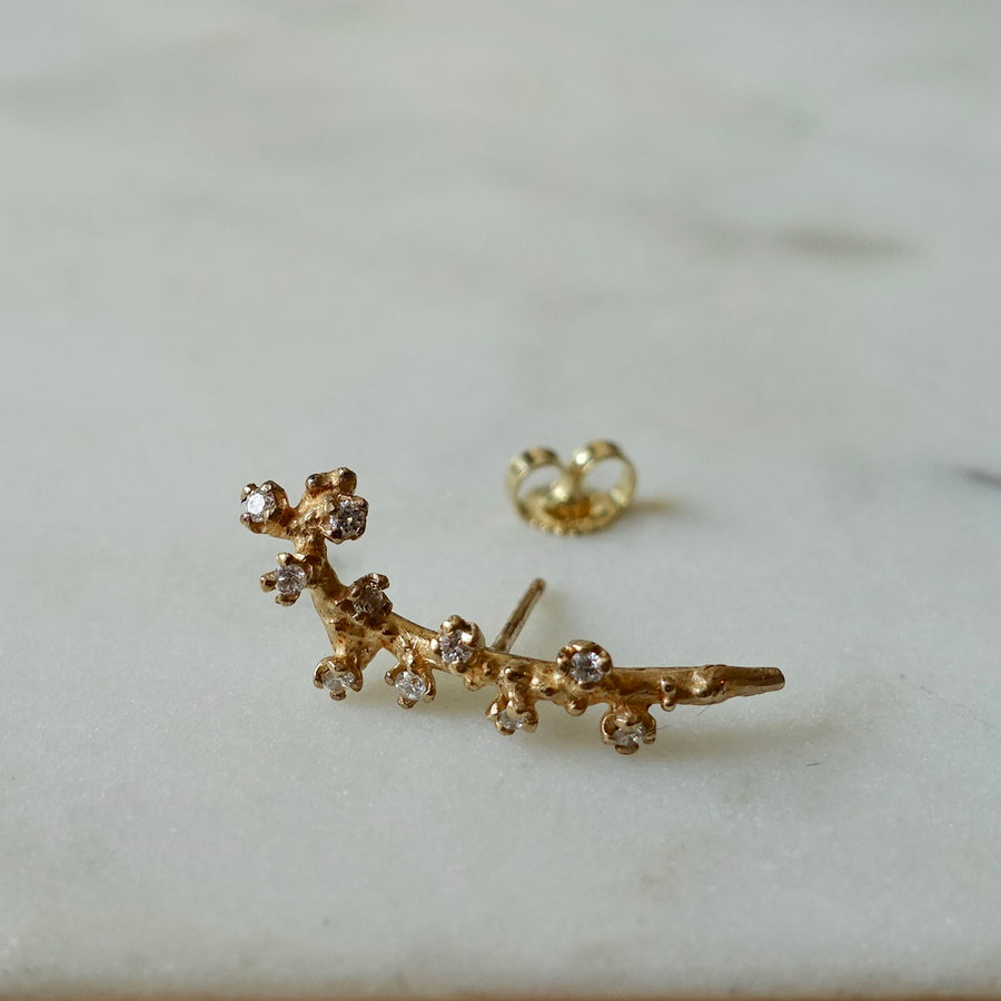 Diamond Branch Single Earring