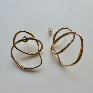 Bronze Freeform Earring