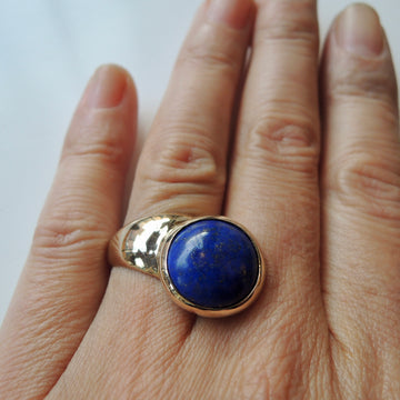 Lapis Offset Ring