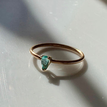 Mint Green Paraiba Ring