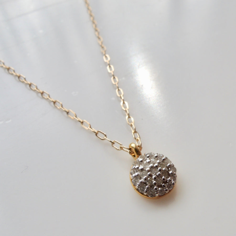 Gray Diamond Pave Necklace