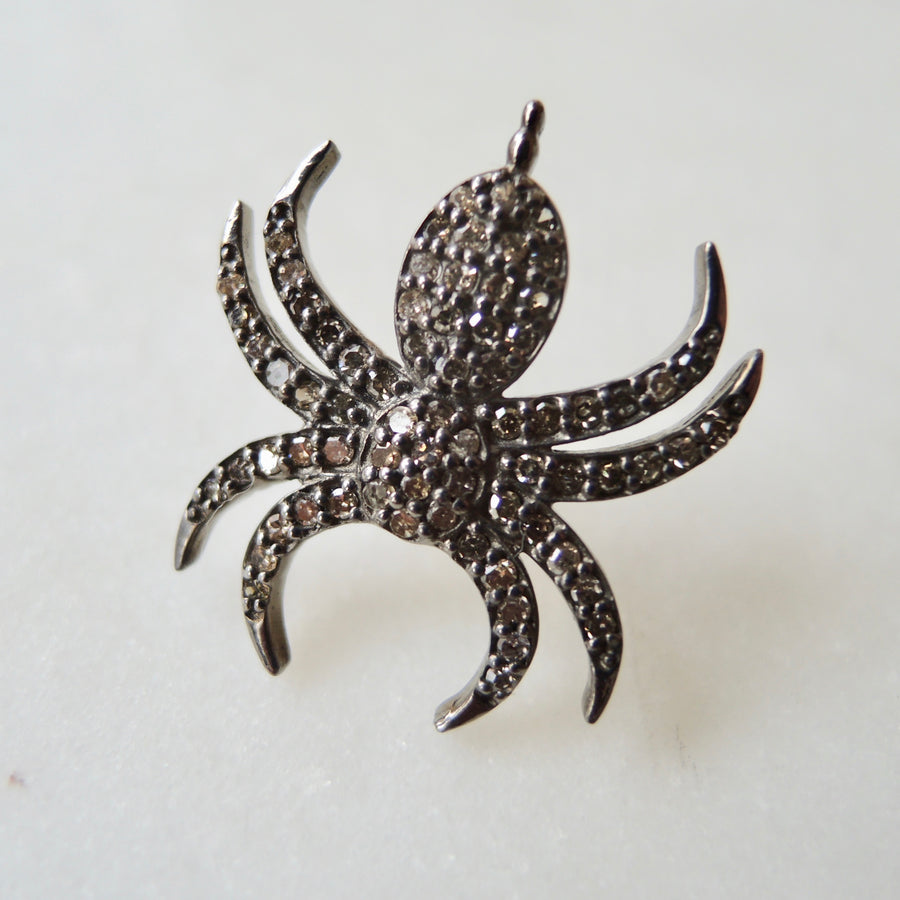 Brown Diamond Spider Earring (SINGLE)