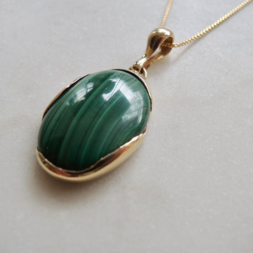 Malachite Ovo Necklace