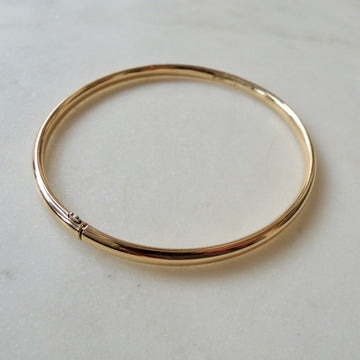 14K Gold Slide Bangle Bracelet