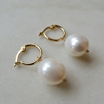 Pearl and Hoop Earrings