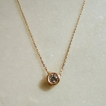 Solitary Diamond Necklace
