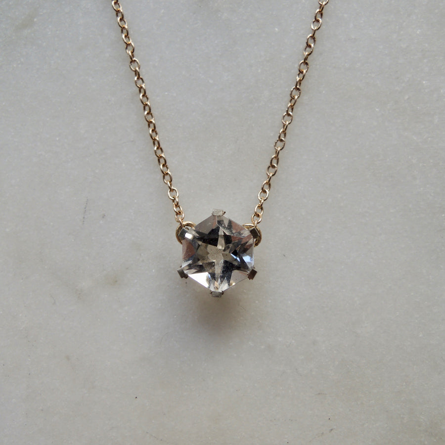 Hexagon Quartz Necklace
