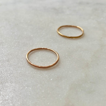 Skinny Hammered Ring
