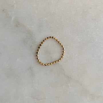 Faceted Ball Chain Ring