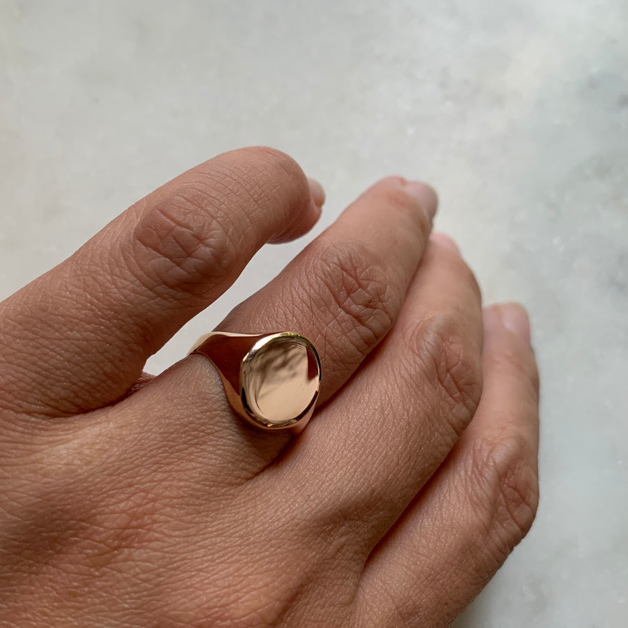 Rose Gold Kiko Signet Ring