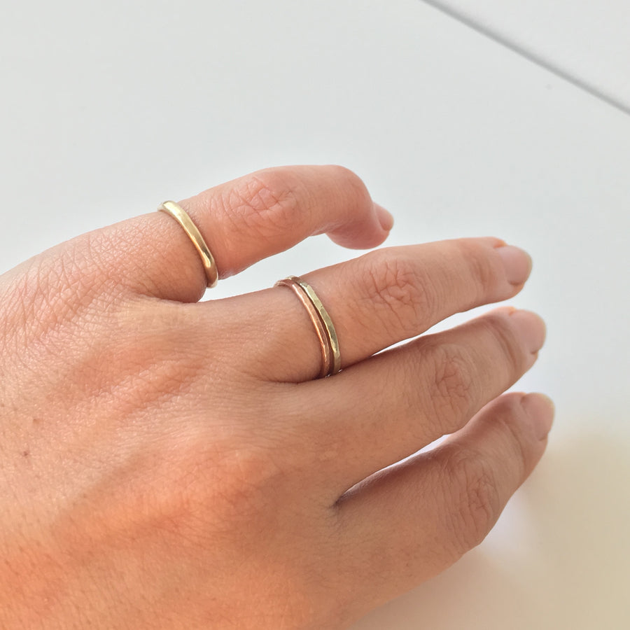 Everyday Hammered Gold Ring