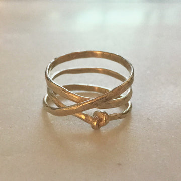 Coiled Knot Ring
