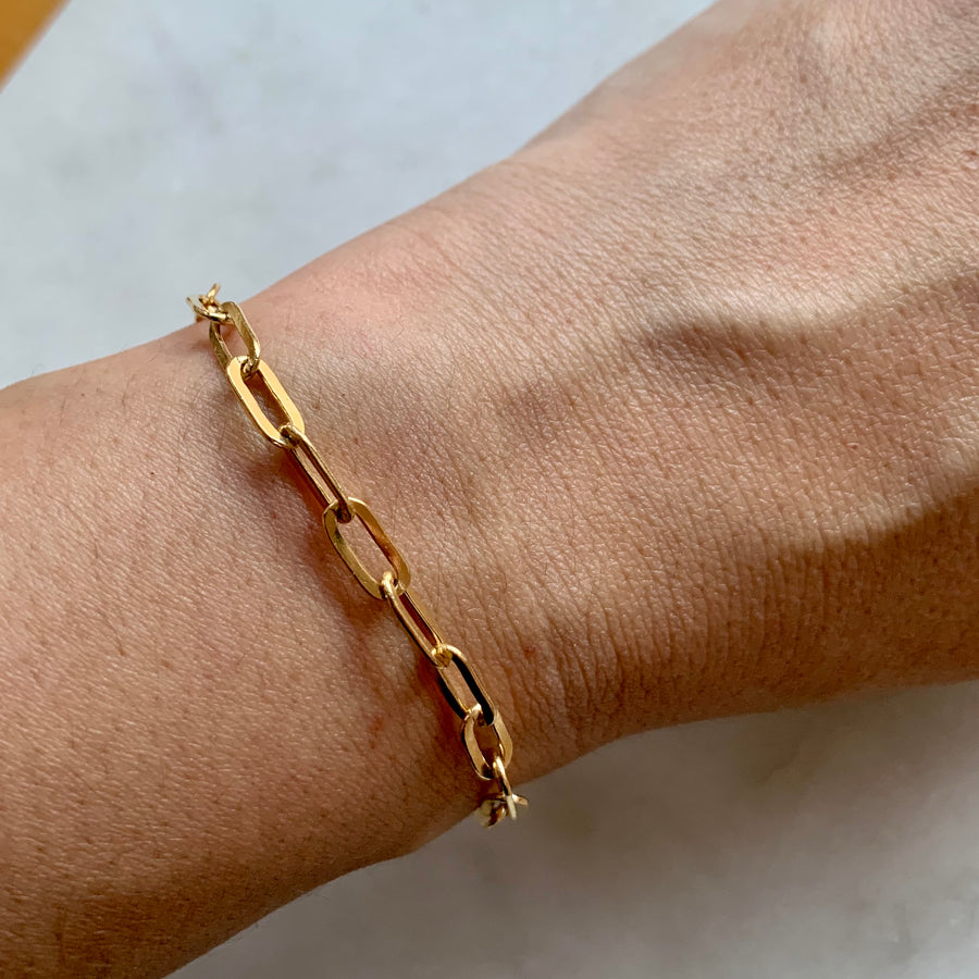 4 mm Gold Chain Link Bracelet