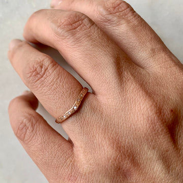 V-shape Slope Diamond Ring