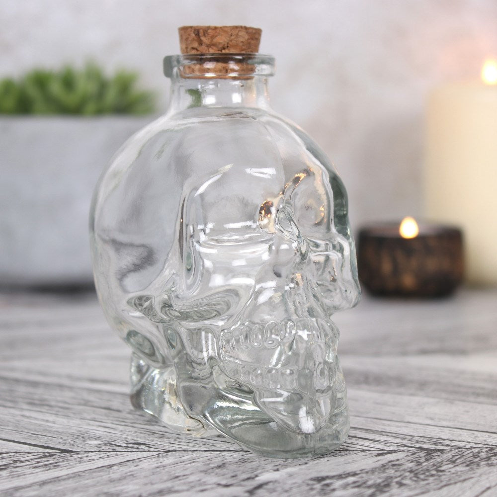 gemmas-curiosity-shop - Clear Skull Jar Ornament - Gemma's Curiosity Shop - Skull