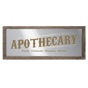 gemmas-curiosity-shop - Mirrored Apothecary Hanging Sign - Gemma's Curiosity Shop - Signs