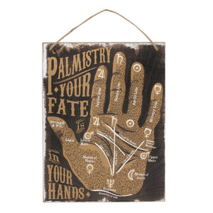 gemmas-curiosity-shop - Palmistry in your Fate Wall Sign - Gemma's Curiosity Shop - Signs