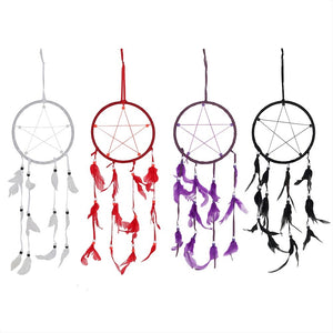gemmas-curiosity-shop - Pentagram Dream Catcher - Gemma's Curiosity Shop - Home Decor