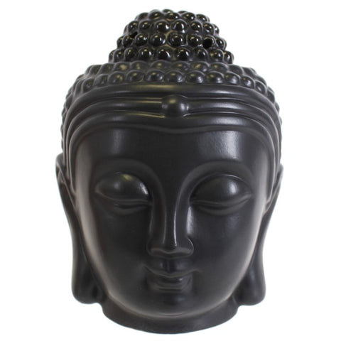 gemmas-curiosity-shop - Black Buddha Head Oil Burner - Gemma's Curiosity Shop - Oil Burner