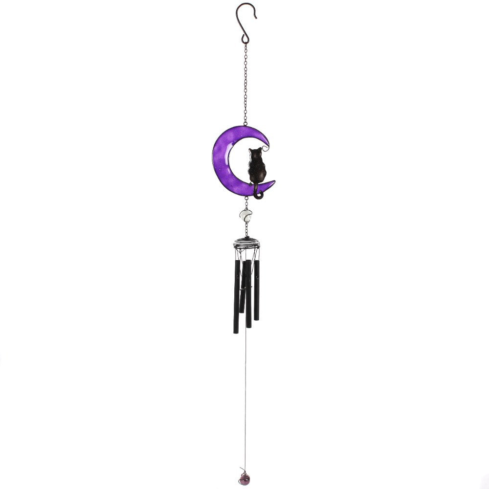 gemmas-curiosity-shop - Black Cat Windchime - Gemma's Curiosity Shop - Windchime