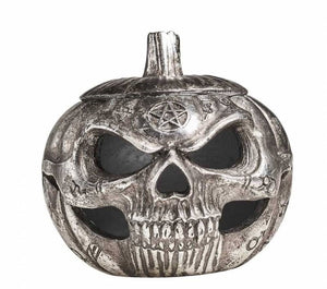 gemmas-curiosity-shop - Pumpkin Skull Pot - Gemma's Curiosity Shop - Storage