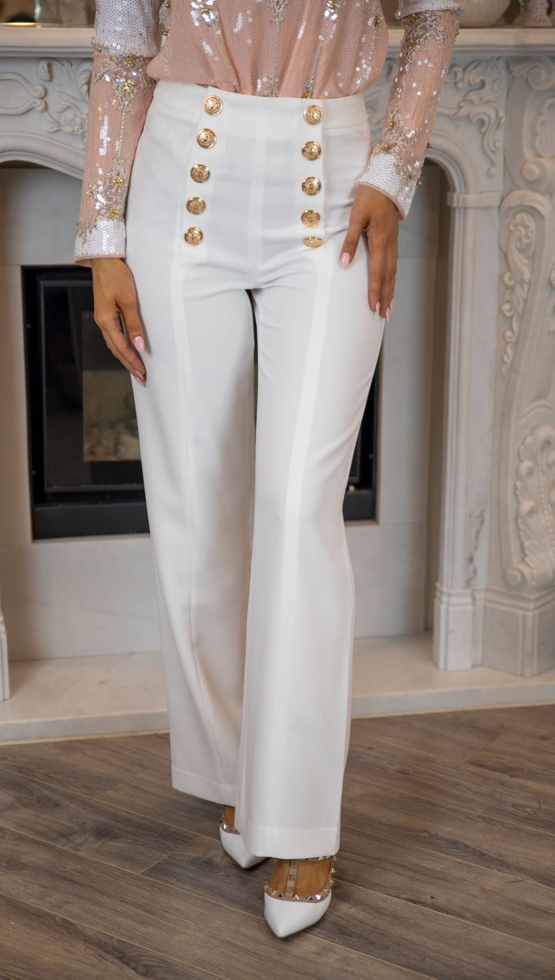 Charny Tailored Pants - WHITE