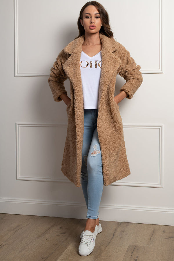 Teddy Lover Coat- Beige.