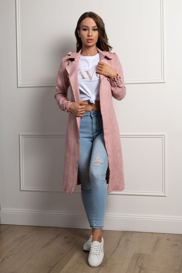 Austin Trench Coat- Blush.