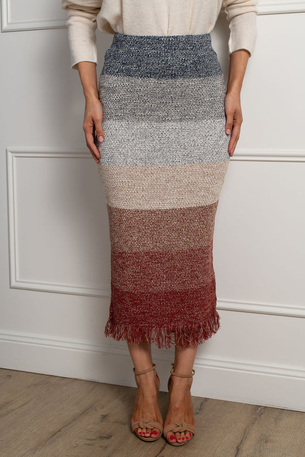 Shona Knit Skirt- Multi