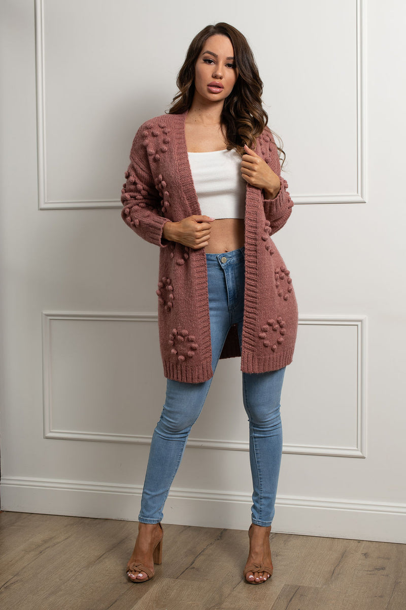 Rocky Road Cardigan-Rose.