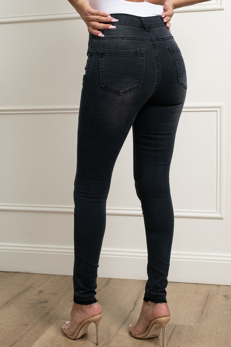Harper Jeans- Washed Black.