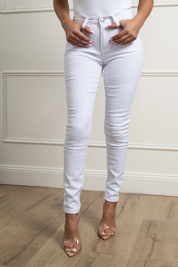 Angel Skinny Leg Jeans-White.