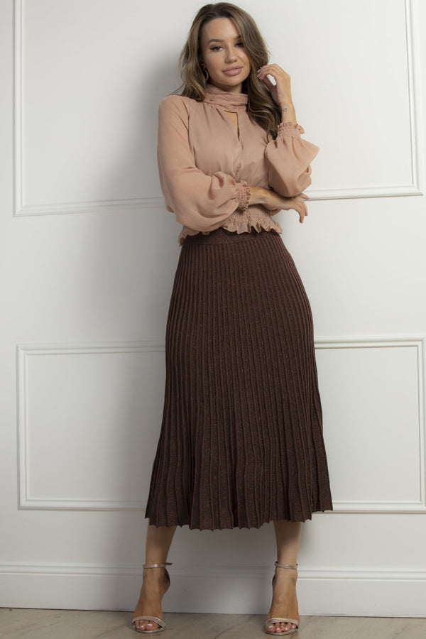 Modern Love skirt- Coffee