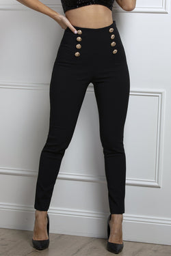 Charny Fitted Pants- Black.