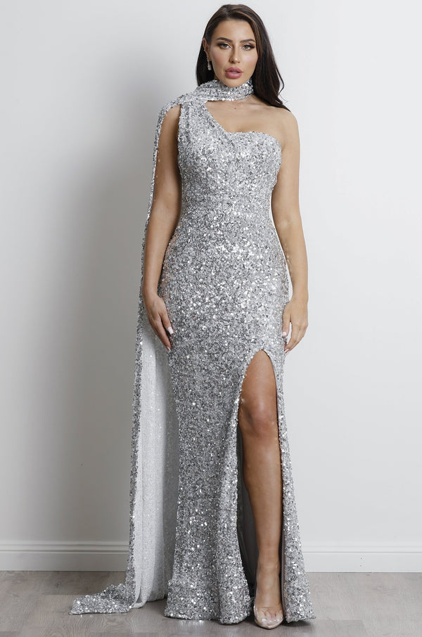 Radiant Gown- Silver.