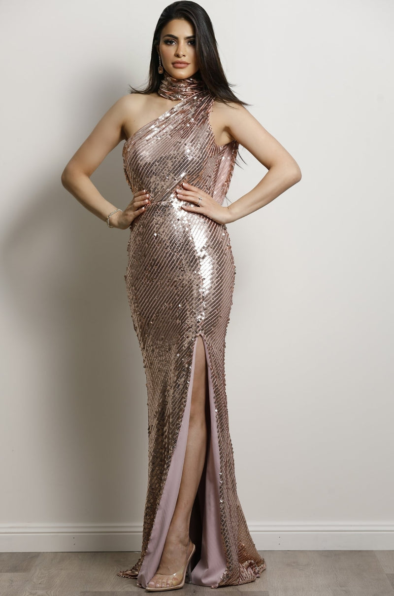 Candice Gown- Rose Gold.