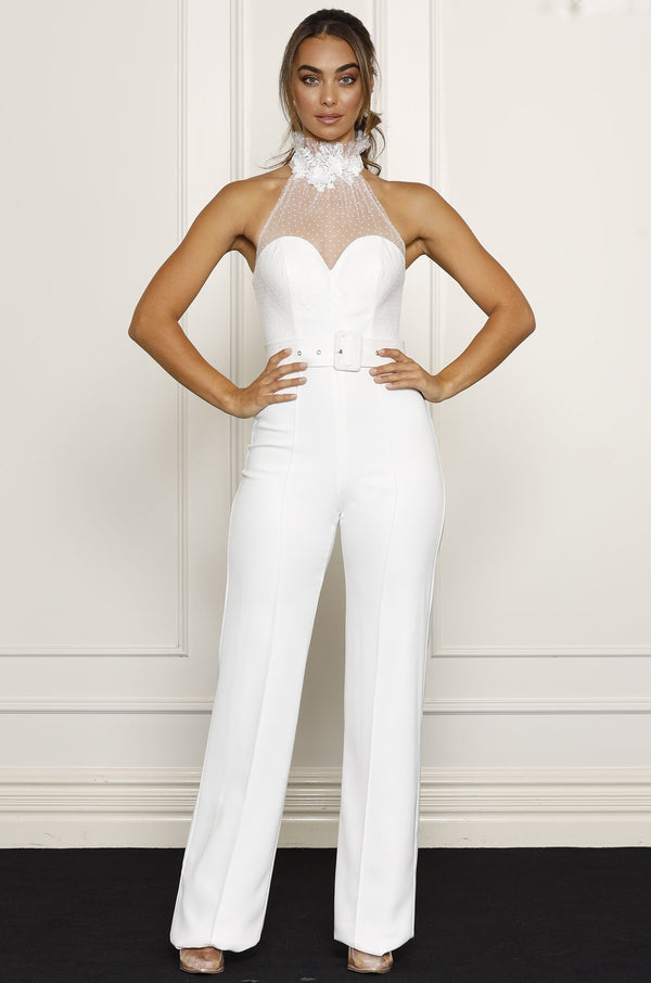 Ivy Jumpsuit- White.