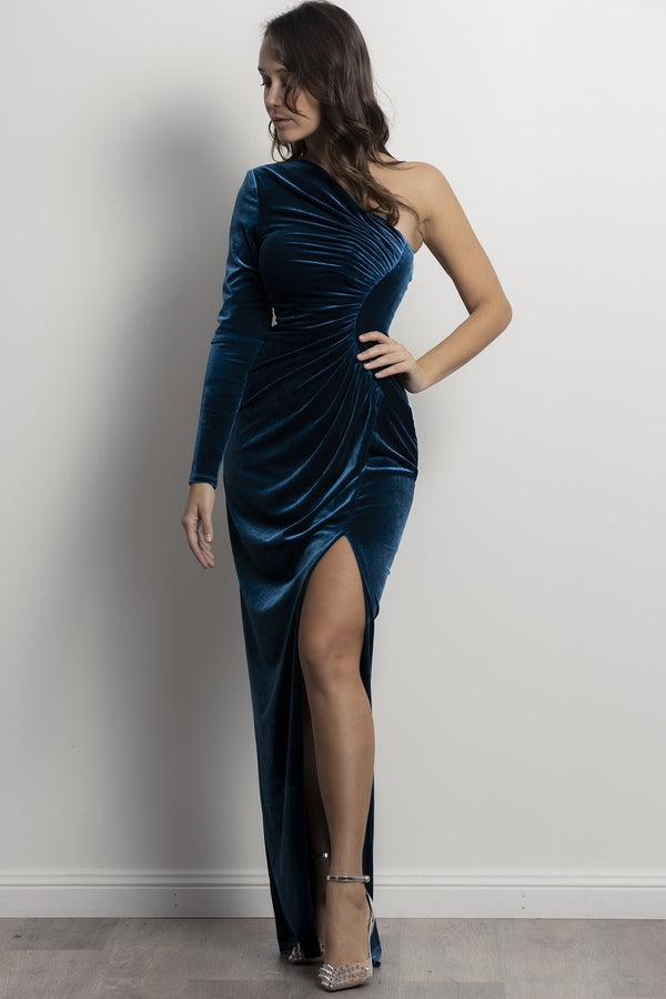 Viva Luxe gown- Teal.
