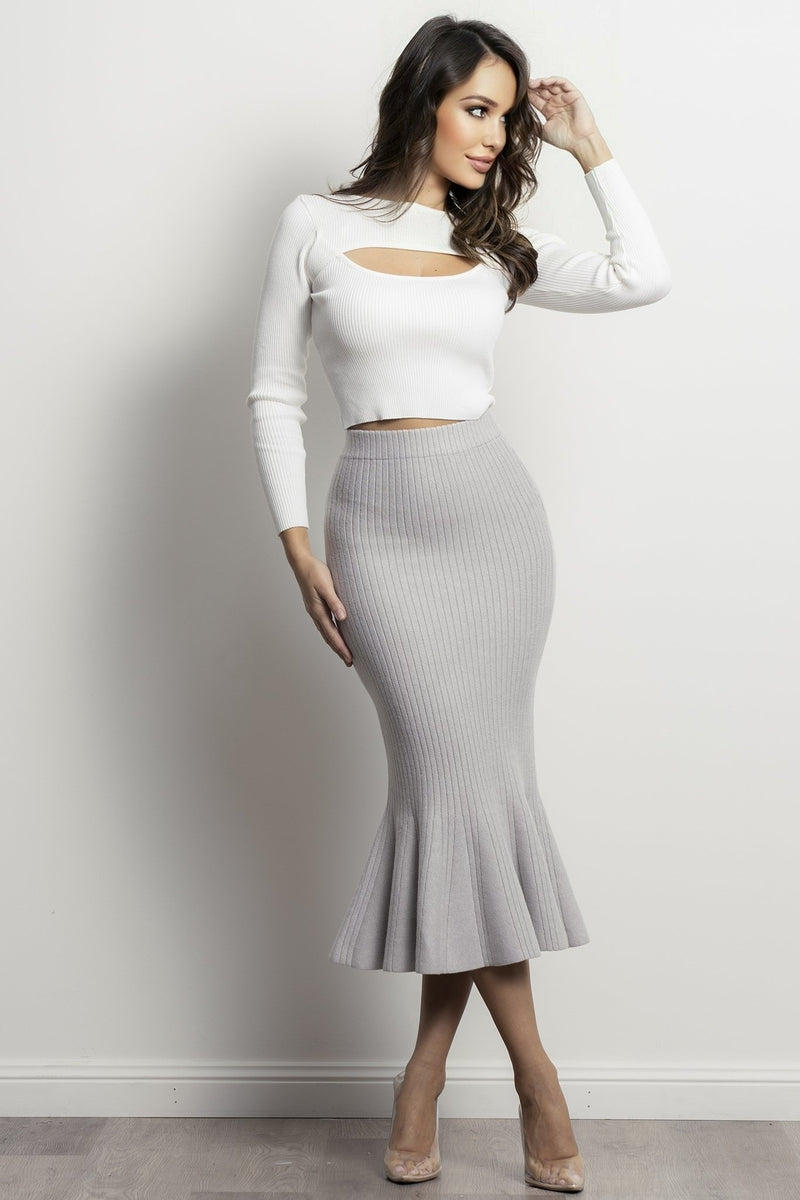 Alexa skirt- Grey.