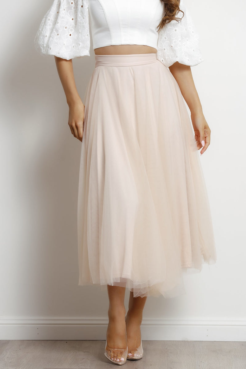 Willow skirt- Nude.