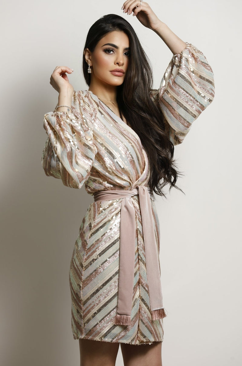 Dion Dress-Rose Gold.