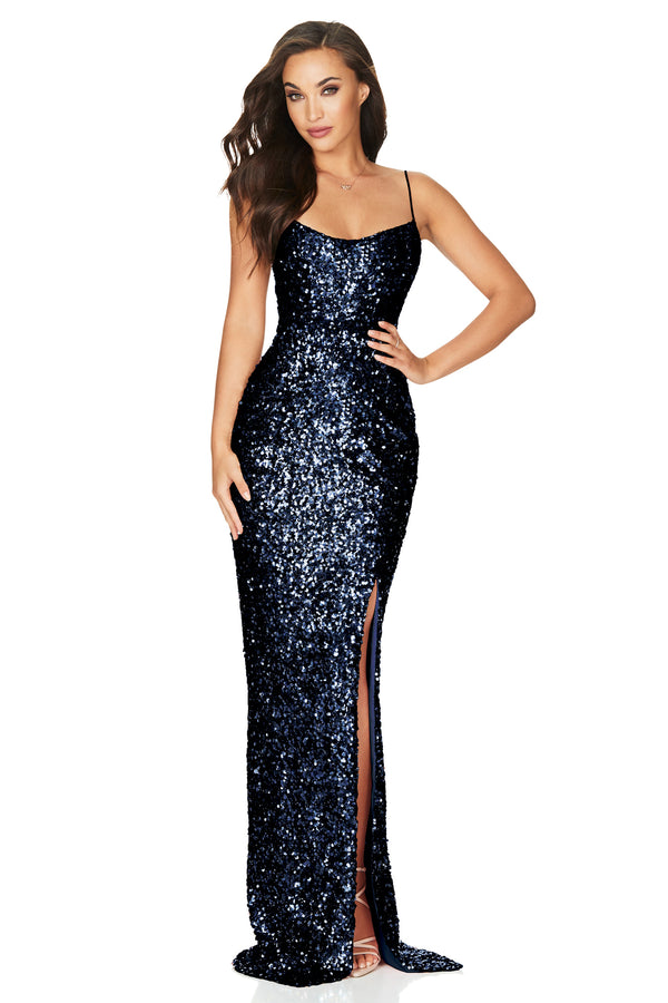 Confetti Gown- Navy.