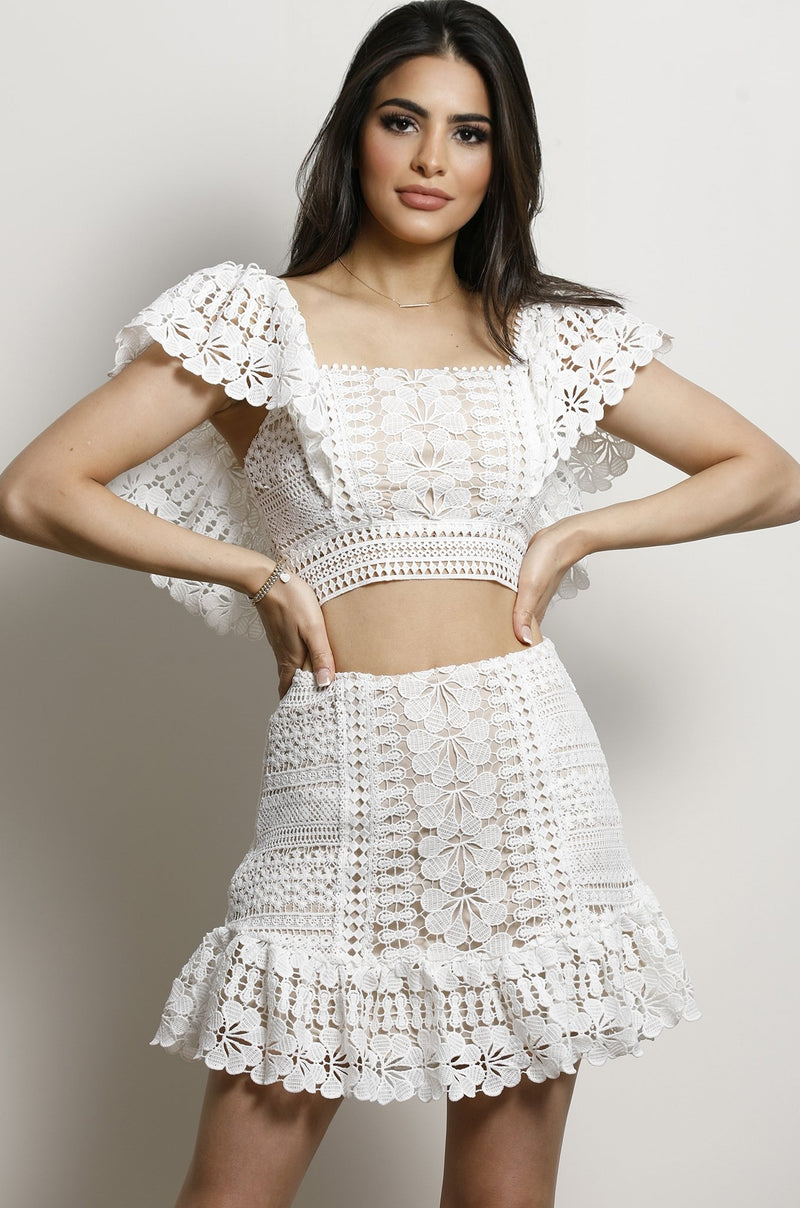 Ivy Rose skirt- Off White.