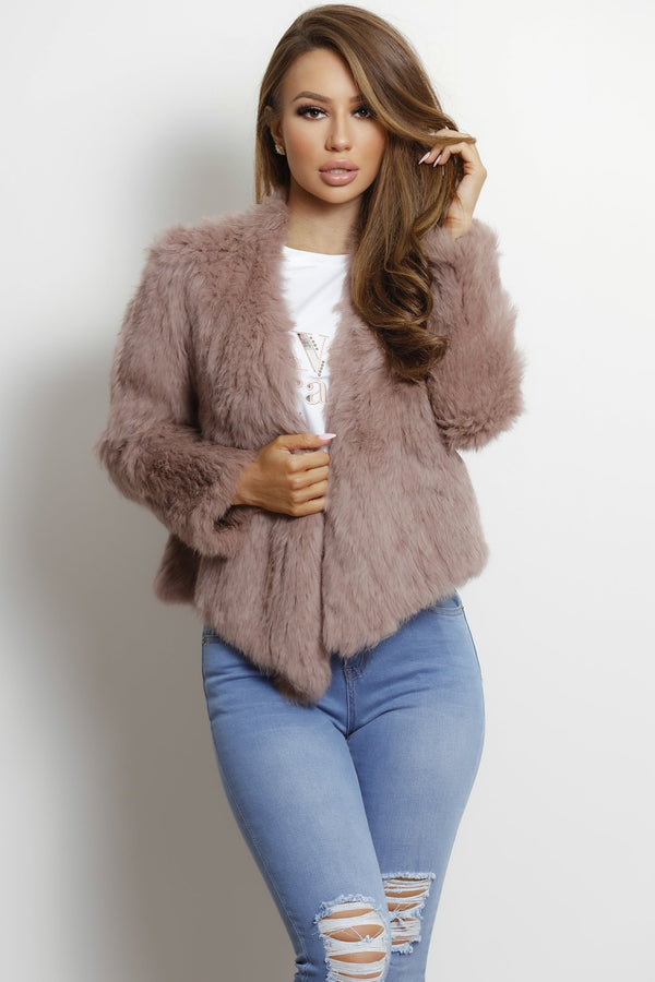 Alaska Fur Jacket- Blush Pink.