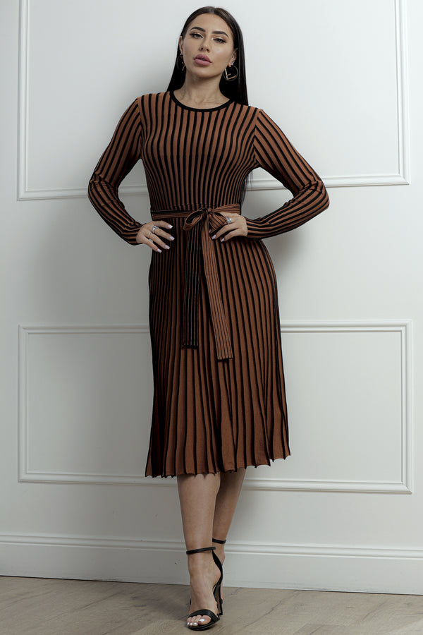 Harper Dress- Copper/Black.