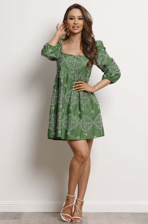 Bohem Dress- Green.