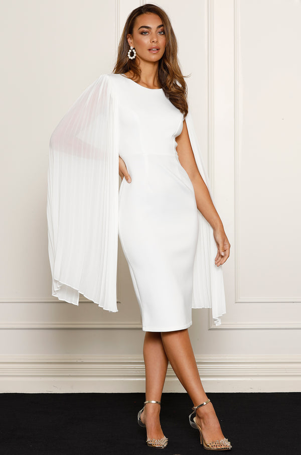 Superior Midi Dress - White.
