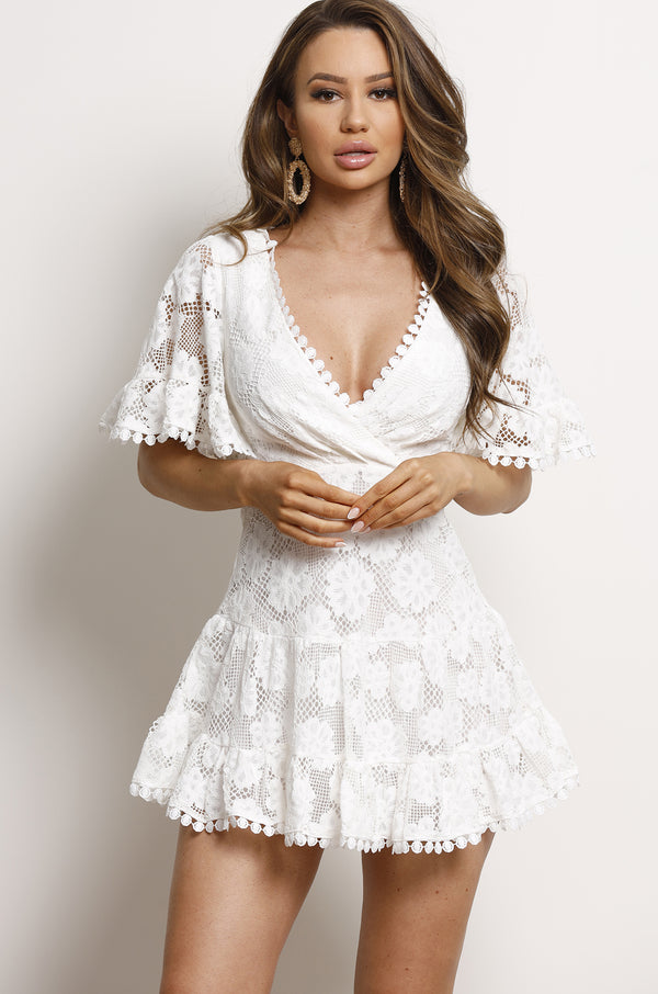 Gracie Dress- White.