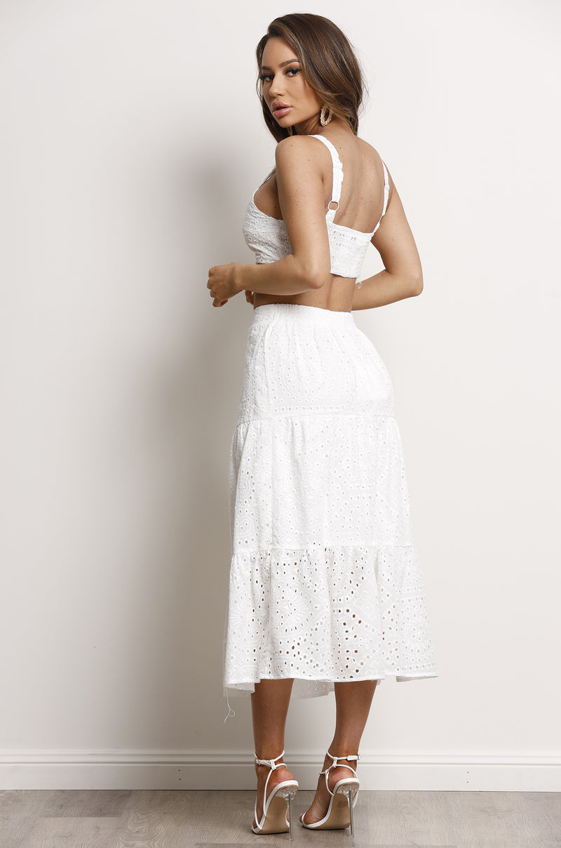 Cosmos Skirt- White.